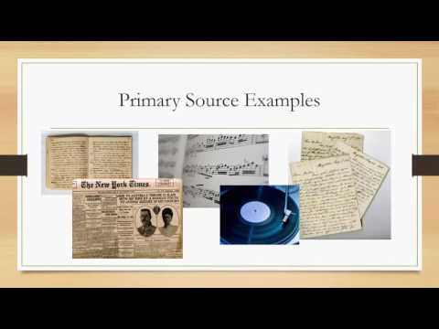 Primary Sources- How To Find Them