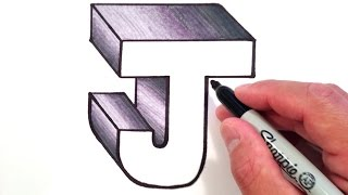 How to Draw the Letter J in 3D