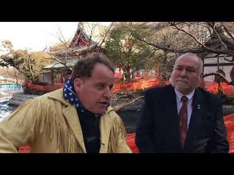 Benjamin Fulford and Robert David Steele at Inokashira Park