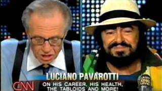 Luciano Pavarotti on Larry King Live. September 27, 2003 Part 1