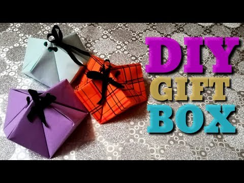 How to make easy gift box | DIY gift box | paper box