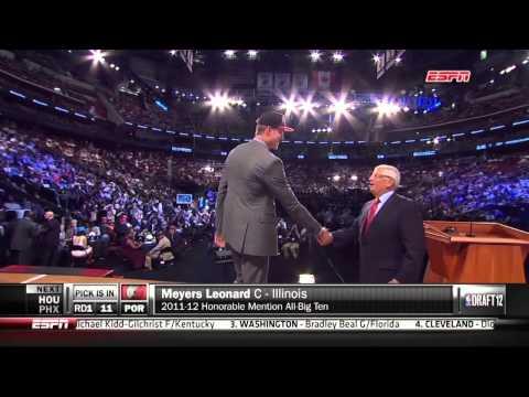 Meyers Leonard Drafted 11th By Portland
