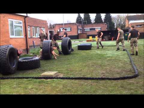 British Army PT lesson