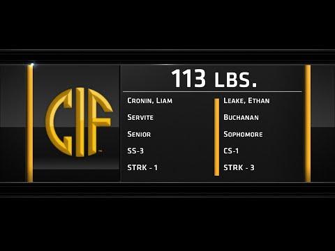 2016 California CIF Boys Wrestling Finals 113lbs