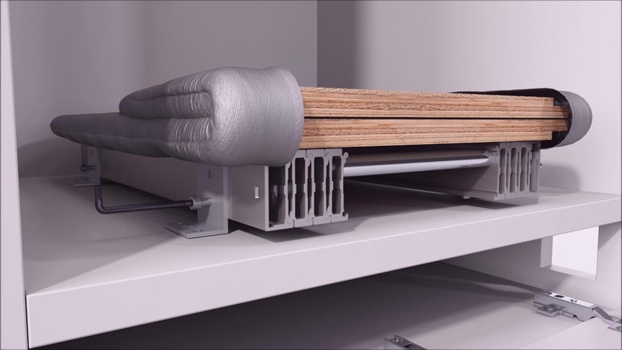 Riporre un asse da stiro in un cassetto ora possibile youtube - Asse da stiro da parete ...