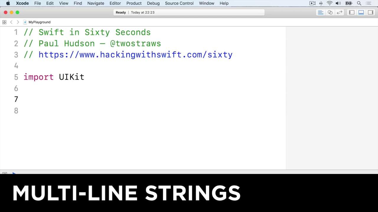 Multi-line strings – Swift in Sixty Seconds