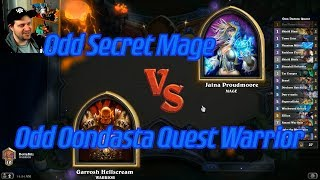 Odd Oondasta Quest Warrior vs Odd Secret Mage - Hearthstone