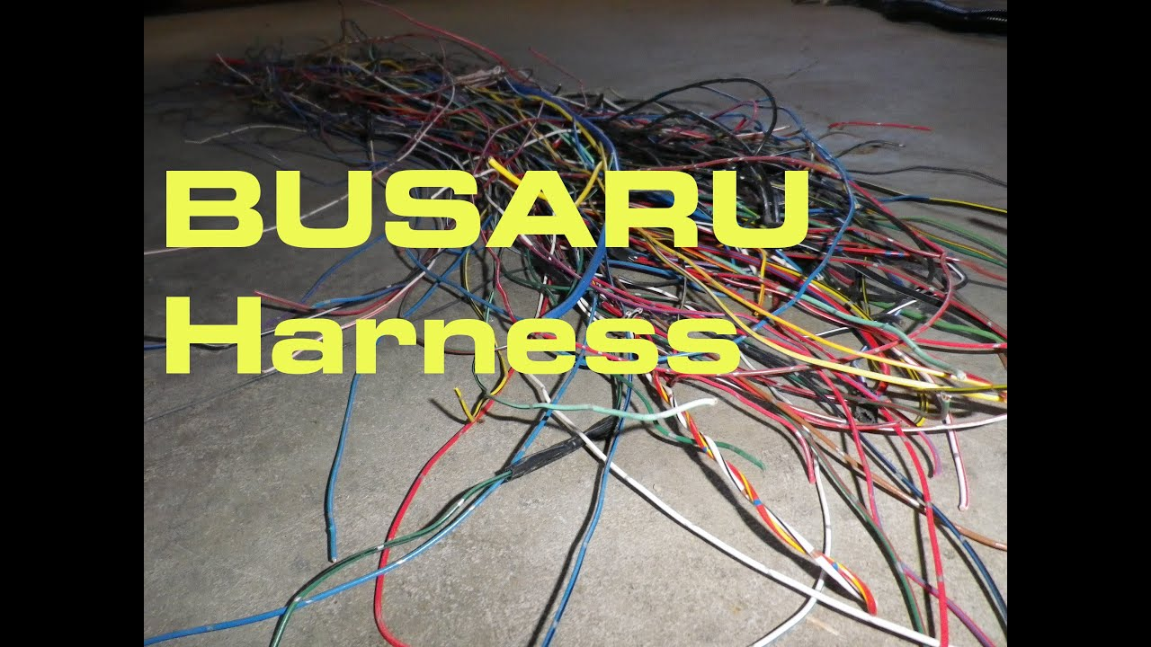 maxresdefault creating the busaru wiring harness busaru engine conversion part Wiring Harness Diagram at bayanpartner.co