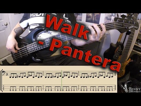 Pantera - Walk [BASS COVER] - with transcription and tabs