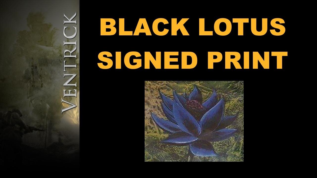 signed black lotus print magic the gathering mtg youtube. Black Bedroom Furniture Sets. Home Design Ideas