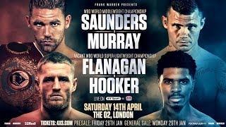 Billy Joe Saunders comes face-to-face with Martin Murray ahead of April's O2 showdown