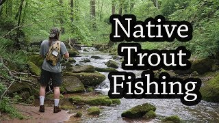 Native Trout Fishing with Lively Legz Nymphs