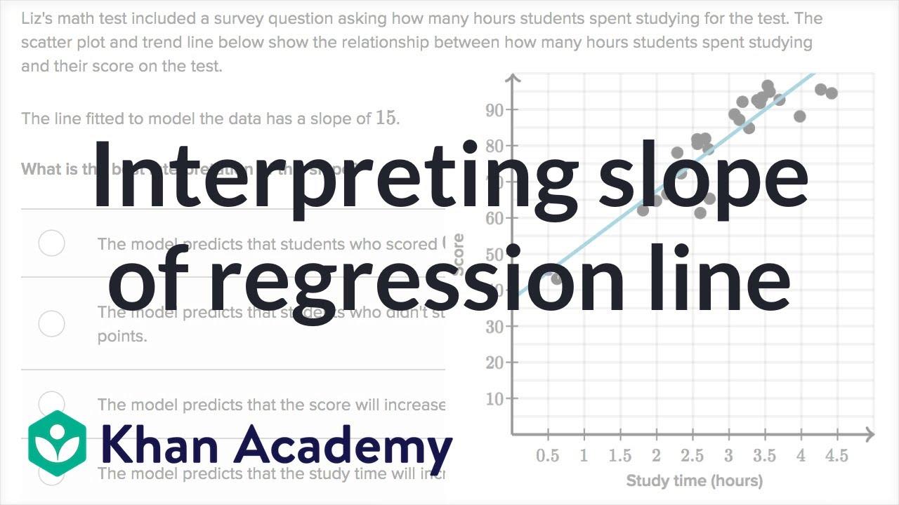 Interpreting slope of regression line (video) | Khan Academy