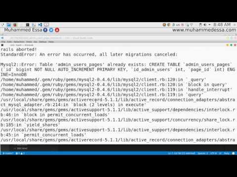 35  Ruby on Rails migration & database