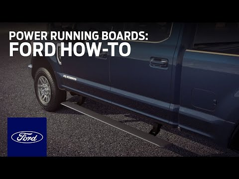 Using Power-Deployable Running Boards | Ford How-To | Ford - YouTube