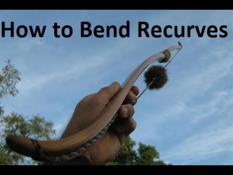 How to Recurve a self bow - Bow Building