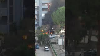 Barletta, incendio in via Ungaretti