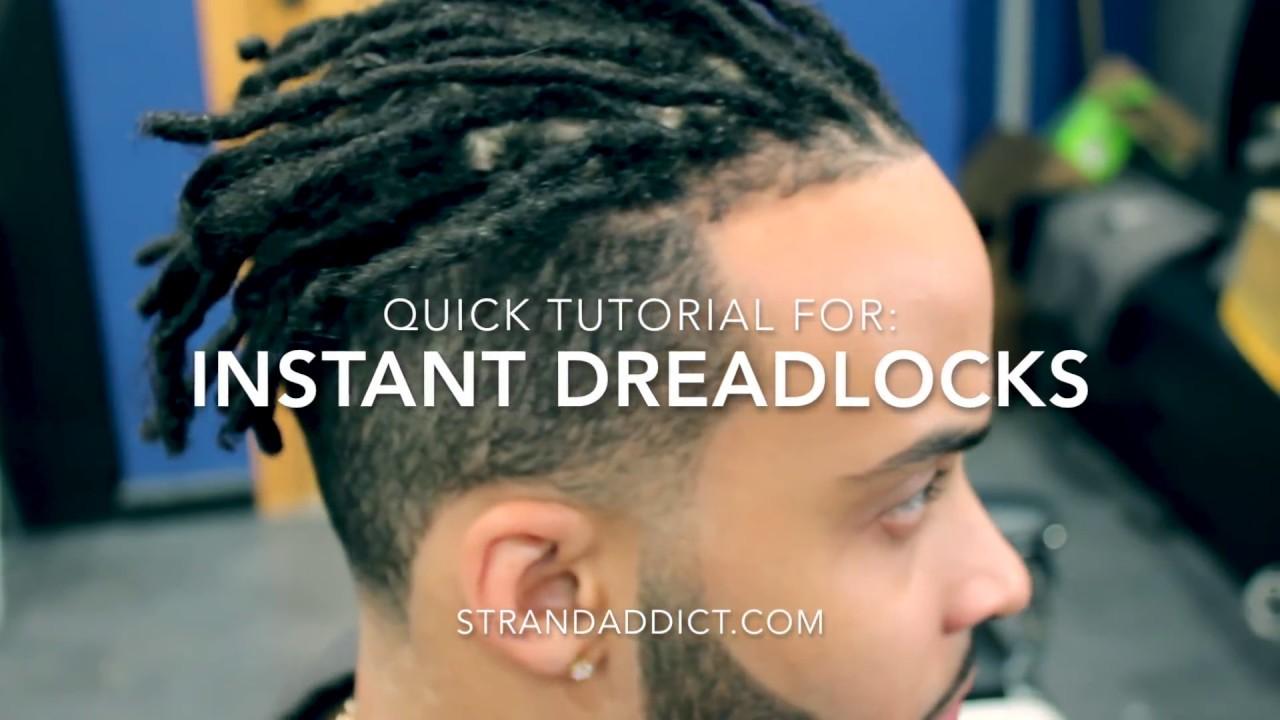 instant dreadlocks killmonger hair tutorial. buy tools at strandaddict.