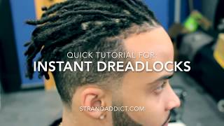 Instant Dreadlocks Killmonger Hair Tutorial
