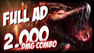 ¡RENEKTON FULL AD BUILD! | 2000 DAMAGE COMBO | Thunderlord | Garmy