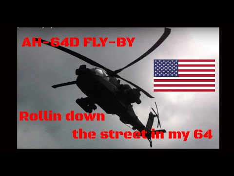 AH64D Apache- Fly-By