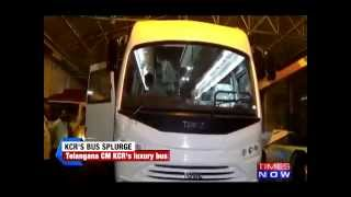 Gambar cover Glimpses of Telangana CM K Chandrasekhar Rao's 5 cr vanity bus