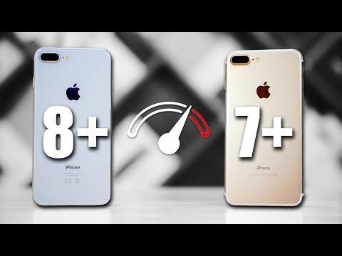 iPhone 7 Plus vs iPhone 8 Plus Speedtest Comparison