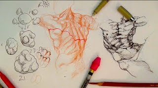 How to Draw Complex Forms Part 3 | Outline and sculpt forms like Michelangelo