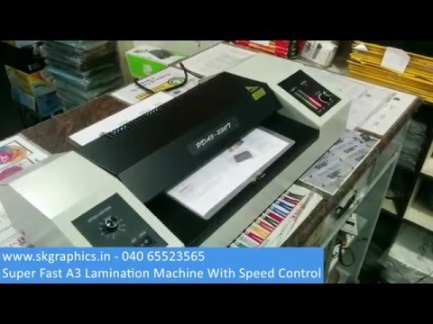 How To Use Super Fast Speed A3 Lamination Machine With Speed Control Demo Youtube