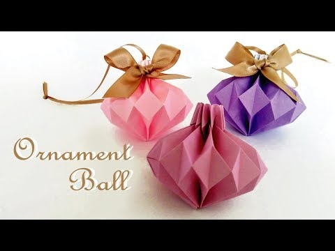 折り紙 ボール オーナメント