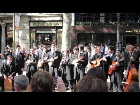 A band on La Rambla in Barcelona