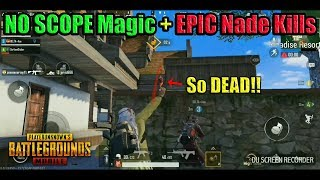 Fastest NO SCOPE + Epic Grenade Kills in PUBG Mobile | DerekG ft. DELTA GAMING & Freezing Blade