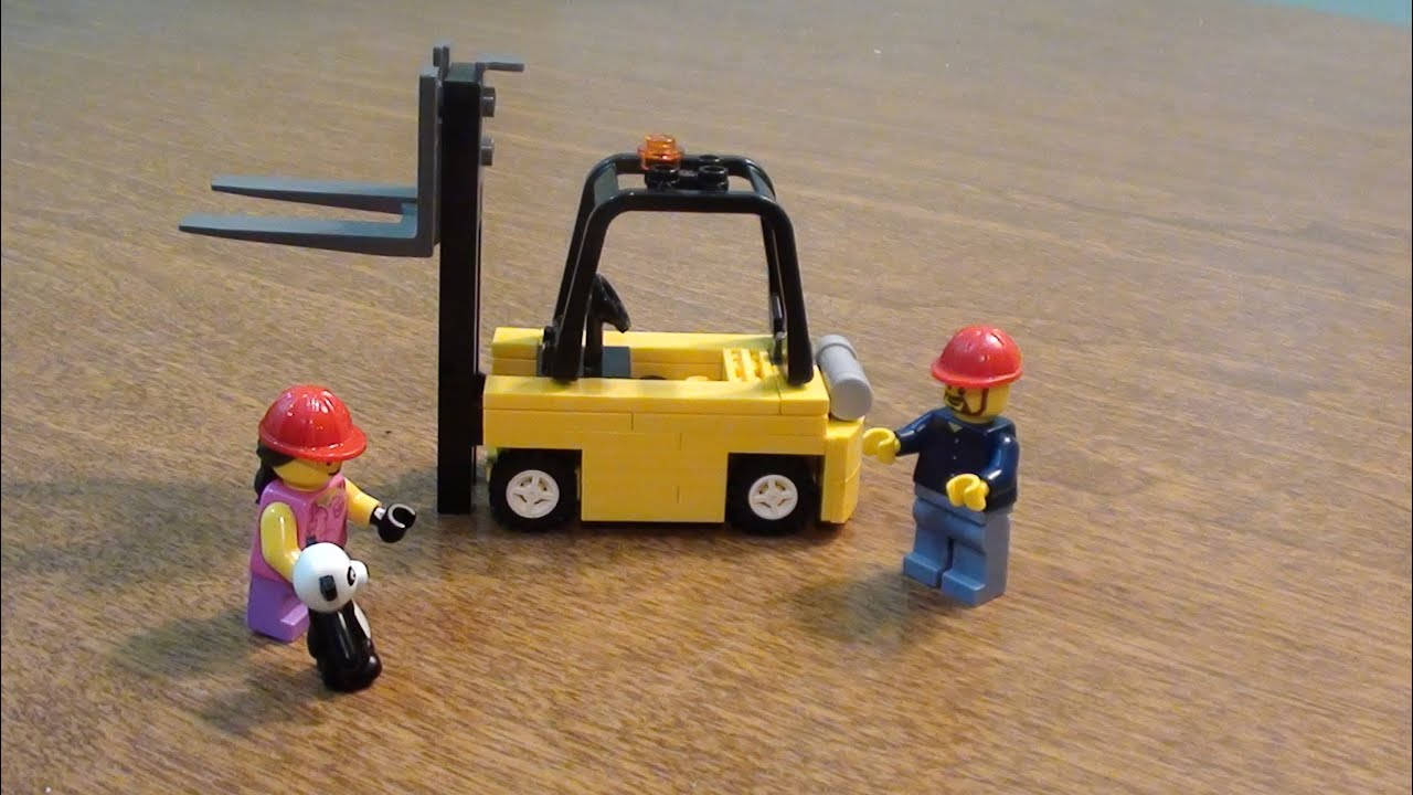 Lego tutorial how to build a tow motor forklift youtube for Tow motor vs forklift