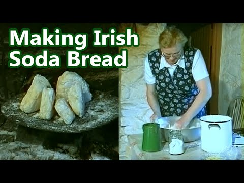 Irish Griddle Bread Soda Bread made in  Killarney and on an open turf fire