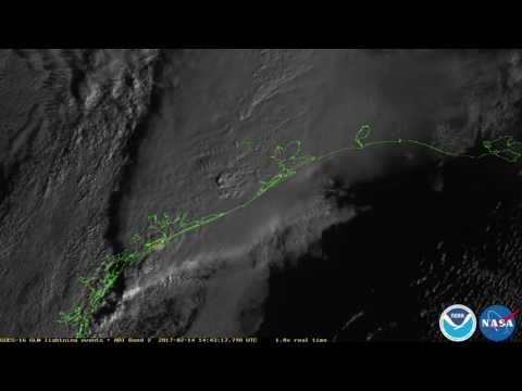 Lightning strikes over Texas caught by new NOAA satellite