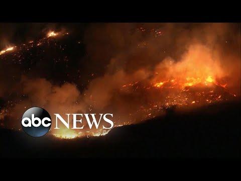 Santa Ana winds spark new California wildfires l ABC News