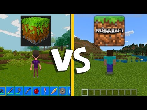 REALMCRAFT 3D VS MINECRAFT POCKET EDITION! MCPE ПРОТИВ REALMCRAFT 3D! КАКАЯ ИГРА ЛУЧШЕ?