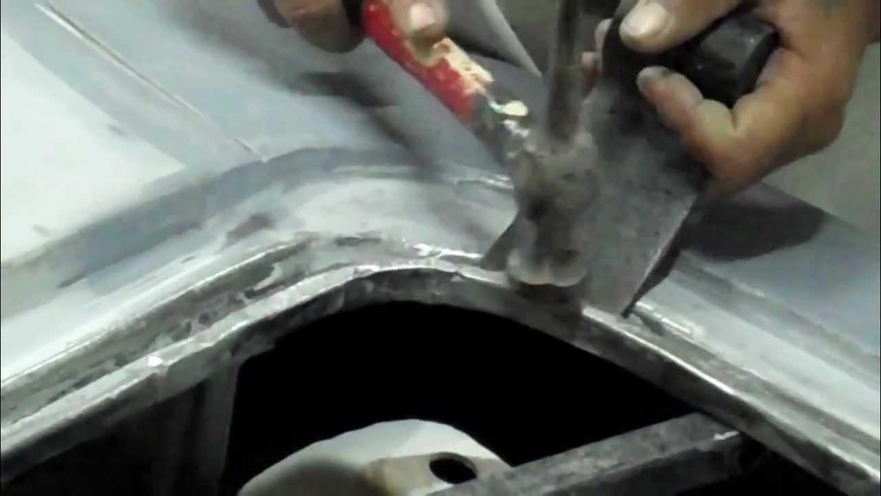 1967 Chevy Camaro Trunk Amp Rear Body Work Youtube