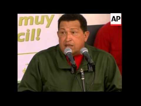 Update on Venezuelan voting, Chavez casts ballot