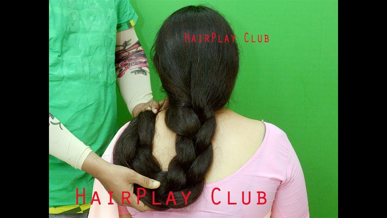 Amazing Thick Long Hair Braid My Aunt Allow Me To Do Youtube