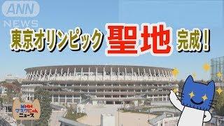 東京オリンピックの聖地が完成!新国立競技場の特徴って!?【マスクにゃんニュース】