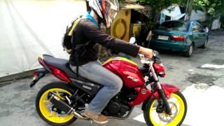 Yamaha FZ16 150cc with Custom Iron Man Paint Job and Musashi Exhaust