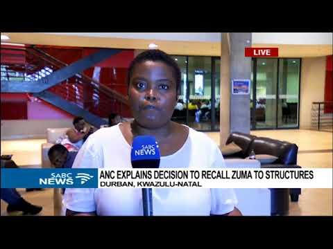 ANC meets branches to explain Zuma's recall