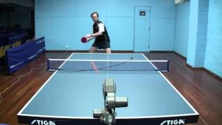 Table Tennis - Forehand & Backhand Loop Technique - Demonstration