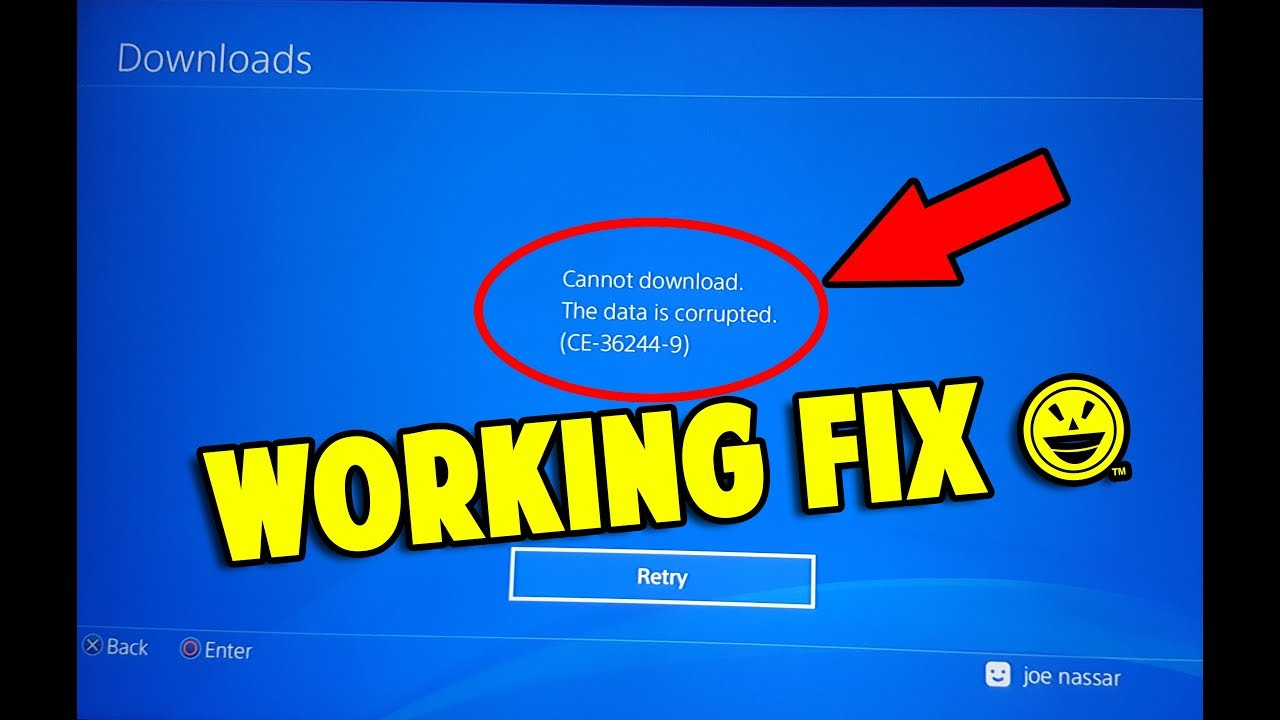3 WAYS TO FIX CANNOT DOWNLOAD CORRUPTED DATA ON PS4 (CE-36244-9)