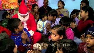 NGO children in India sing gospel song on Christmas