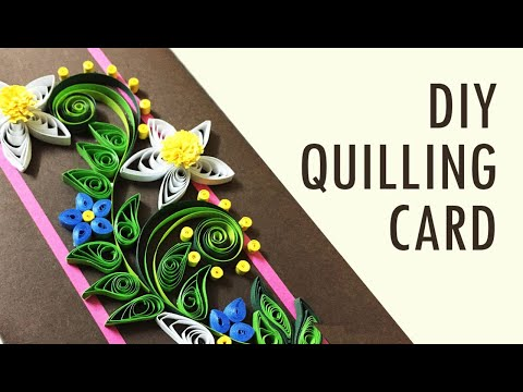 DIY Paper Quilling Card | Paper Quilling flower | Handmade Paper Quilling Flower Card