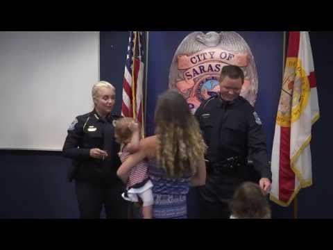 Sarasota Police Department Swearing In Ceremony - July 2, 2015