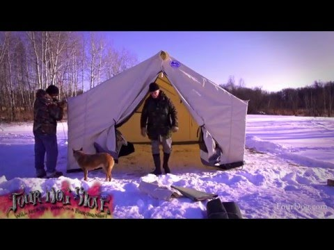 Davis Wall Tent Winter Set Up | Start To Finish Instructions | Set Up Tips