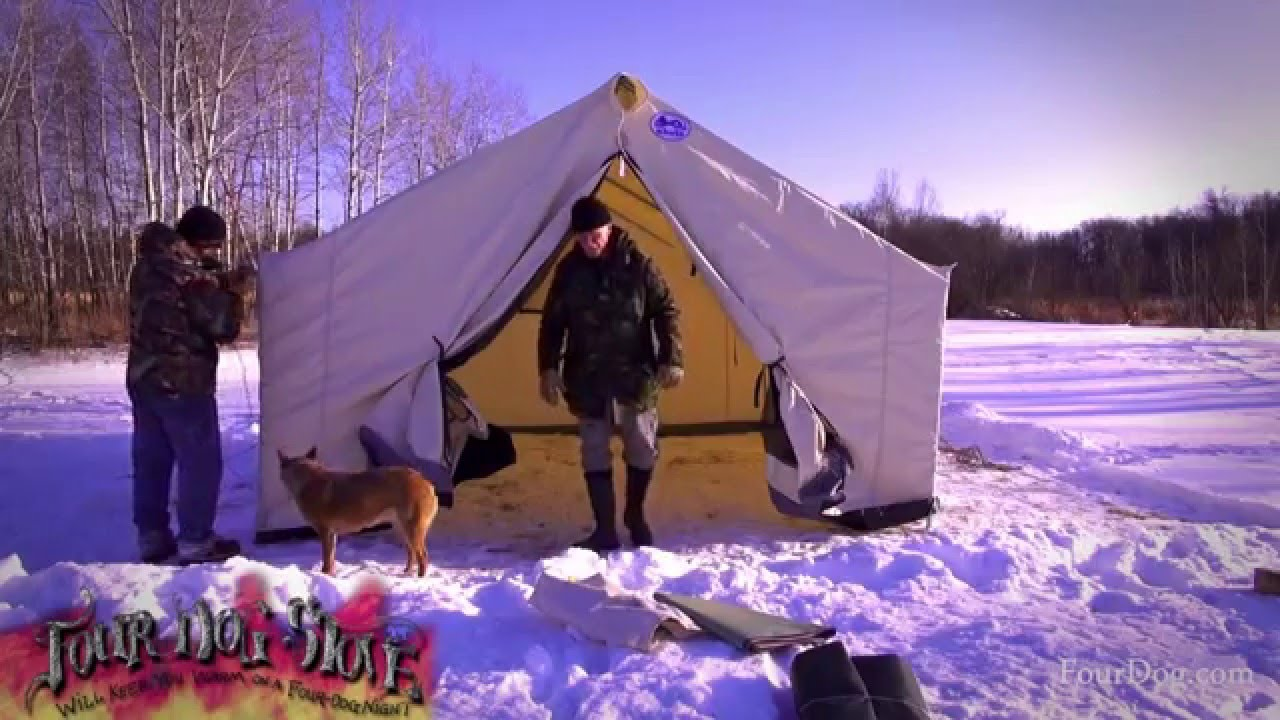 Davis Wall Tent Winter Set Up | Start to Finish Instructions | Set Up Tips - YouTube & Davis Wall Tent Winter Set Up | Start to Finish Instructions | Set ...